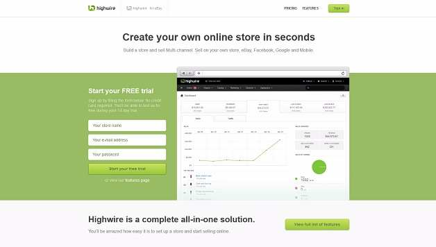 best e commerce website builders - HighWire